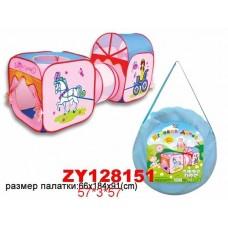Палатка ZYK-008A-27  с тоннелем (66*184*91см)в сумке 60*60 /24шт./