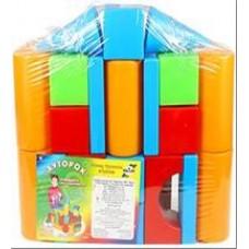 Набор строительный Хуторок 29 деталей в пакете