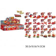 Конструктор 2 в1 серия Пожарная 16 видов 80511#1-16 в коробке 9,5*4,5*7 см