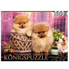 Пазлы 500 эл. Два Померанских Шпица Konigspuzzle.