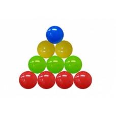 Набор шаров для сухого бассейна 18 шт. цветные, ø85 мм в пакете