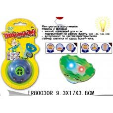 Юла грибок-прыгунок свет ER80030R на карт 9*17 см