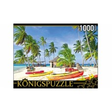Пазлы 1000 элементов лодки на острове konigspuzzle