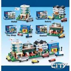 Конструктор 4 вида 1110-1113 в коробке 18.5*14.5*4.5 см