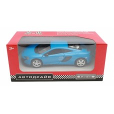 Машина Автодрайв металл 1:32 mclaren 650s матовая, синяя