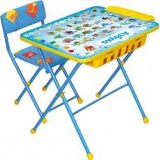Комплект детский, складной, Азбука(стол,мягкий стул,пенал)