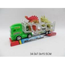 Машина автовоз  с животными 628-11 под колпаком