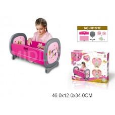 Кровать для кукол, JM1221E, в коробке, 46*12*34 см