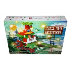 Конструктор детский пластмассовый в коробкеДом на дереве 43 элемента (16шт)