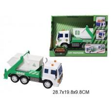 Машина мусоровоз инерционный световые и звуковые эффекты в коробке