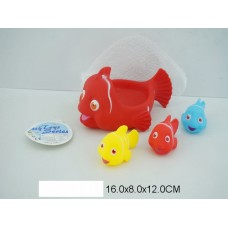 Набор для купания 6327-8 рыбки 4 шт.  сетка 16*12см /180шт//90шт/ [794242]
