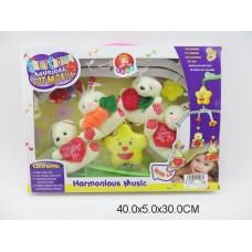 Мобиль заводной мягкие игрушки  D070 коробка 40*5*30 /36шт//18шт/ [556829]
