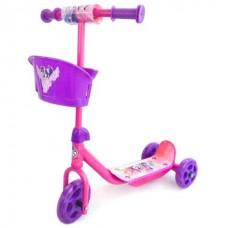 Самокат 3-кол.Hasbro. my little pony , пластик, колеса пвх 145/120мм, корзина в русс. кор. в кор.6шт [239327]