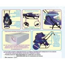 Санки-коляска Скользяшки Северные-8-Р8 (1штука в коробке)