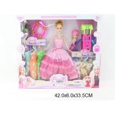 Кукла с платьями и аксессуарами, 918B4,  в коробке, 29 см