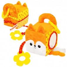 Игрушка Мякиши развивающий кубик Лисичка Апельсинка