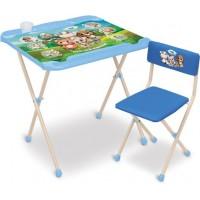 Комплект трансформируемый стол-парта Кто чей малыш? (стол+стул мягкий)