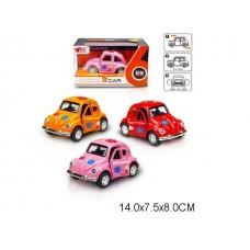 Машина 1:38, металлическая,  инерционная, 3 цвета, MY66-Q1128,  в коробке, 14*7.5*8 см