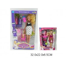Кукла беременная с пупсом и аксессуарами, 2 вида, 5101, в коробке, 32*22*6,5 см