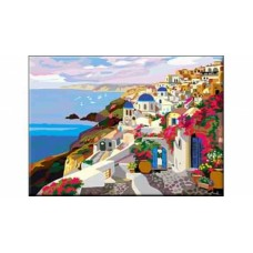 Раскраска по номерам. формат а3. город у моря