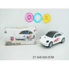 Машина 3D на бат свет,звук XY1052 коробка 21*9*9см /144шт.//72шт./ [861429]
