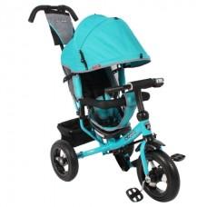 Велосипед 3-х колесный Moby Kids Comfort 12/10 AIR надувные колеса цвет бирюзовый