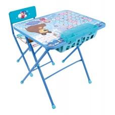 Комплект детский, складной Азбука4. Маша и Медведь (стол+бол пена+стул мяг.)