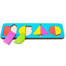 Игрушка детская вкладыш 4 фигуры (9 эл ) цвета в ассорт 21*6,5 см