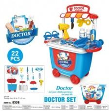 Игровой набор доктор 21 деталь 8358 в коробке 22*16.5*20 см