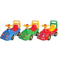 Автомобиль для  прогулок  с глазами 4 цвета в коробке 58 х 47 х 26 см