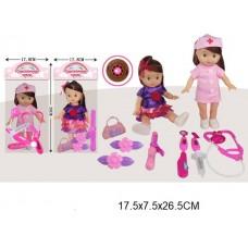Кукла, 335-44A, с аксессуарами, в пакете, 25 см