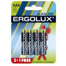 Батарейки Ergolux LR-03 BL*3+1 цена за 4 шт.