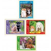 Пазлы 54 эл. щенки и котята