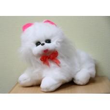 Кот белый средний 43 см стрижка
