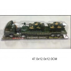 Машина автовоз военный инерционный  871C-1 под колпаком