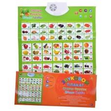 АКЦИЯ Звуковой плакат. Фрукты, овощи, ягоды, грибы  ЗП-1566