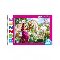 Пазлы 260 эл. Прекрасная принцесса и единорог. Artpuzzle.