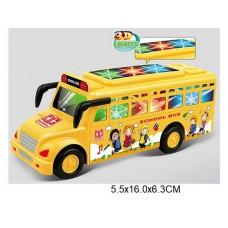 Автобус15,5  инерционный,свет 3D,звук 7705 в пакете