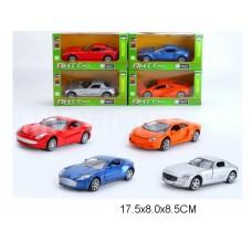 Машина инерционная, металлическая, ML63202, 4 вида, в коробке, 17,5*8*8,5 см