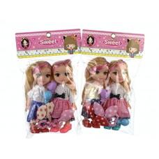 Кукла 20 см 2шт  YG2103-2 в пакете