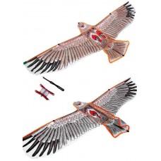 Воздушный змей орёл темный 120 см 4103 в пакете