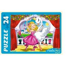 Пазлы-макси 24 эл. Балеринка и лебедь №2
