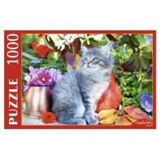 Пазлы 1000 эл. Котенок в цветах