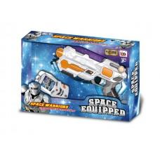Космический бластер на батарейках, световые и звуковые эффекты в коробке 33*22*6 см