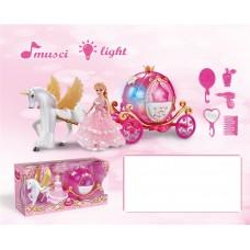 Карета с лошадью световые и звуковые эффекты 2202D в коробке