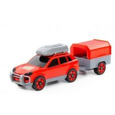 Автомобиль легковой с прицепом в сеточке 38 см