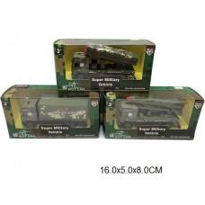 Машина военная 3 вида металлическая 2215-9 в коробке