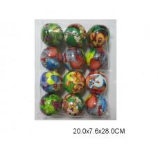 Мяч с рис 7 см в уп 12шт 6332 в пакете