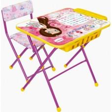 Комплект детский, складной,Маленькая принцесса (стол,мягкий стул,пенал)