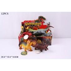 Набор динозавров 7209 в коробке 12 штук